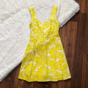 Alice + Olivia Silk Yellow Sequin Party Dress